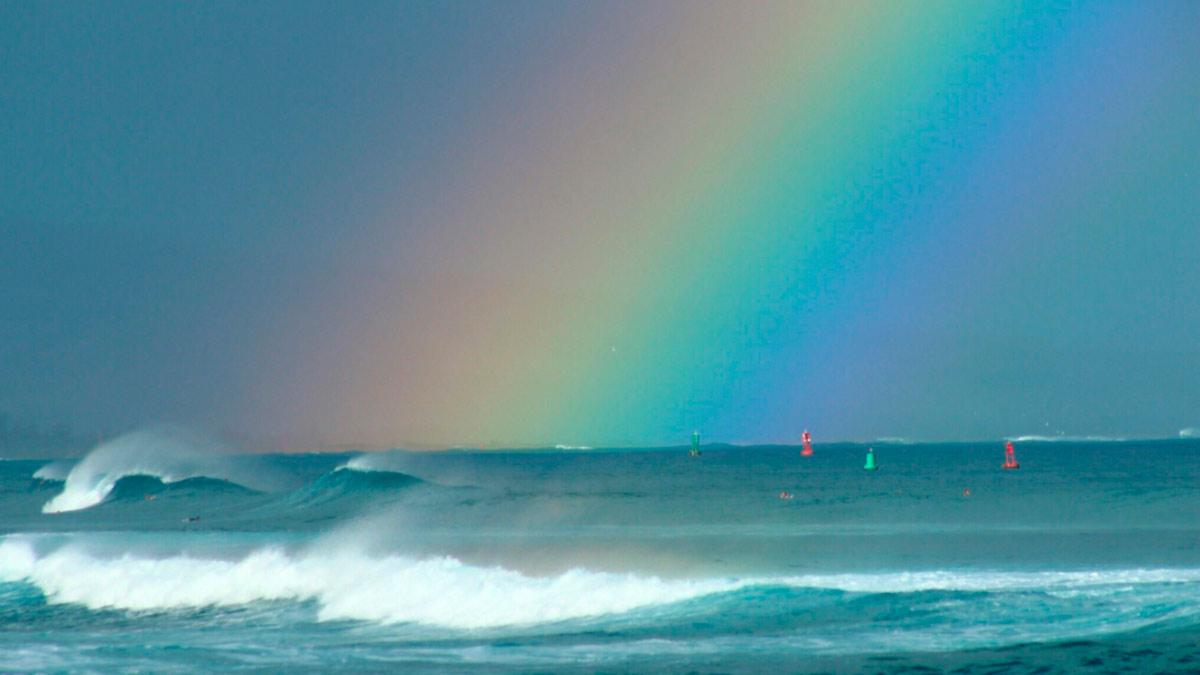 Sognando gli arcobaleni nel mare
