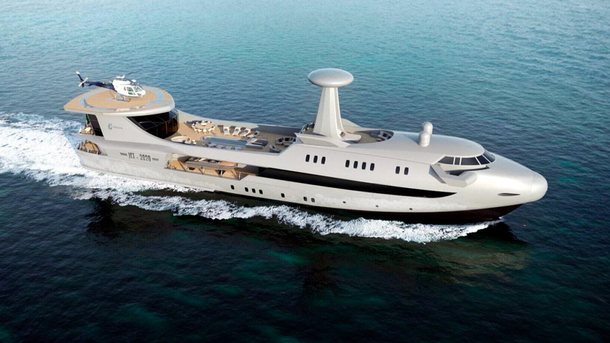 Sognando uno yacht che viene guidato in acque calme e tranquille