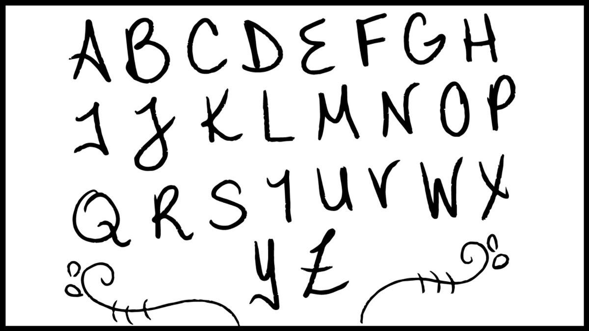 sognare con le lettere